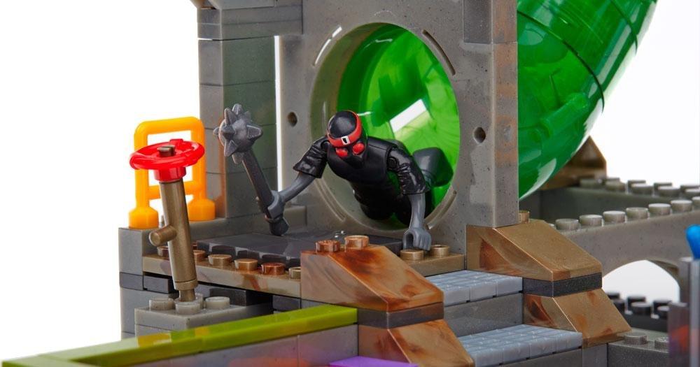 Mega Bloks Tartarugas Ninja Conjunto Esgotos Mattel
