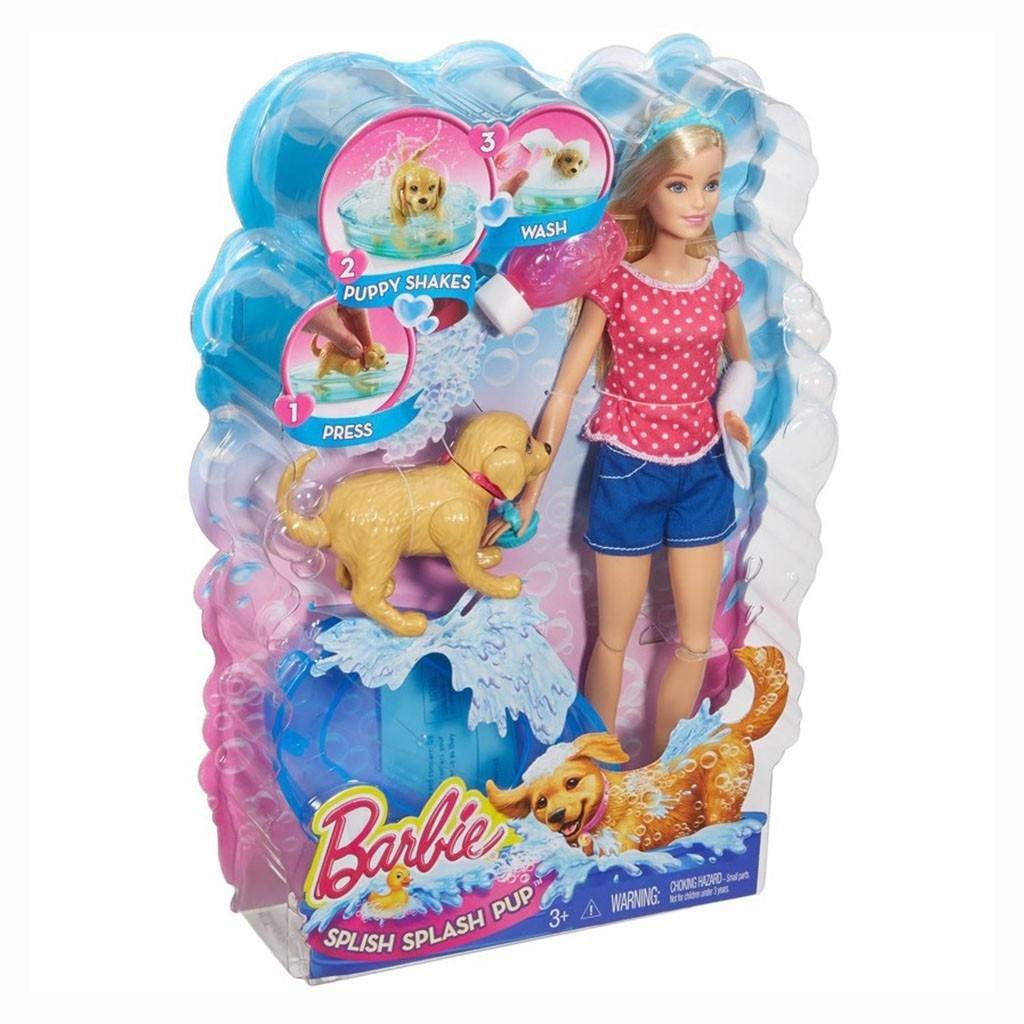 Boneca Barbie Filhotinho no Banho Mattel