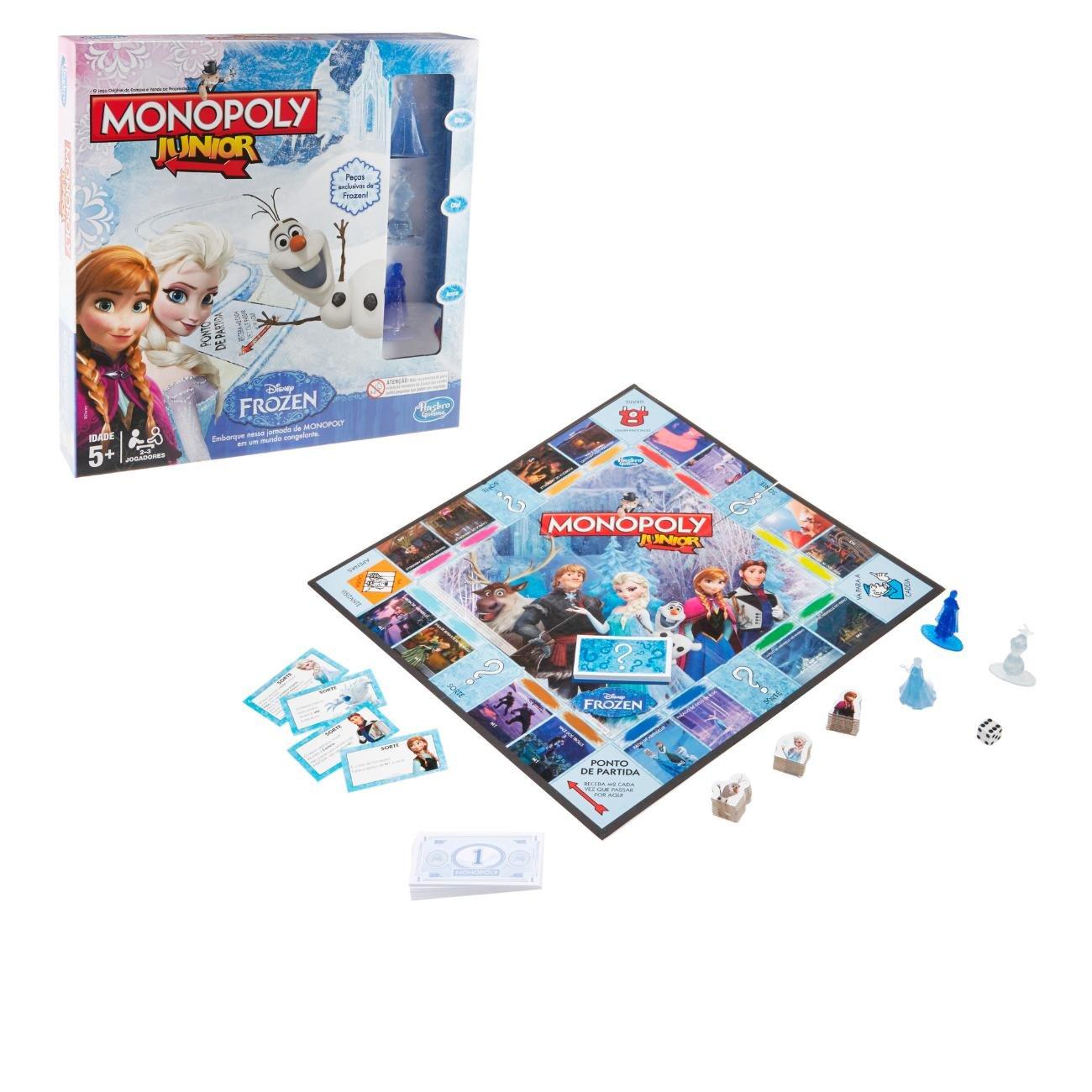Jogo Monopoly Jr. Frozen Hasbro