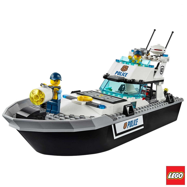 Barco de Patrulha da Polícia Lego