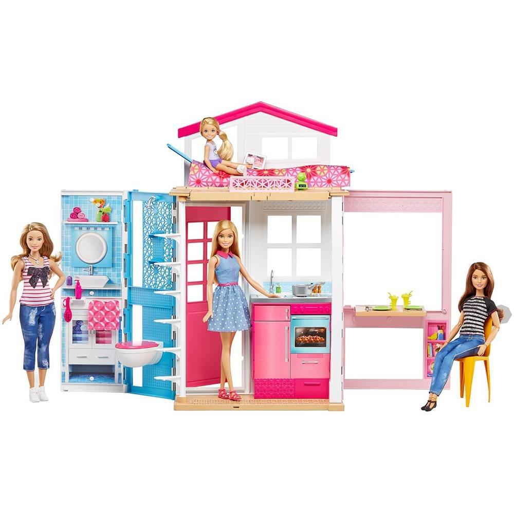 BB Real Barbie e Sua Casa Mattel