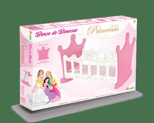 Berço de Boneca com Balanço Princesa Junges
