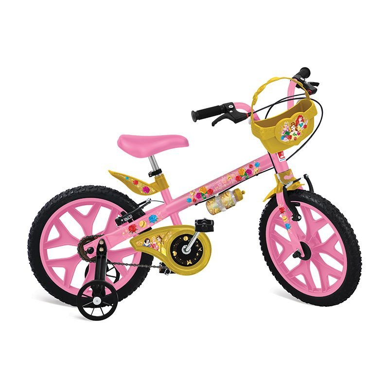Bicicleta Infantil Aro 16 Princesas Disney Bandeirante
