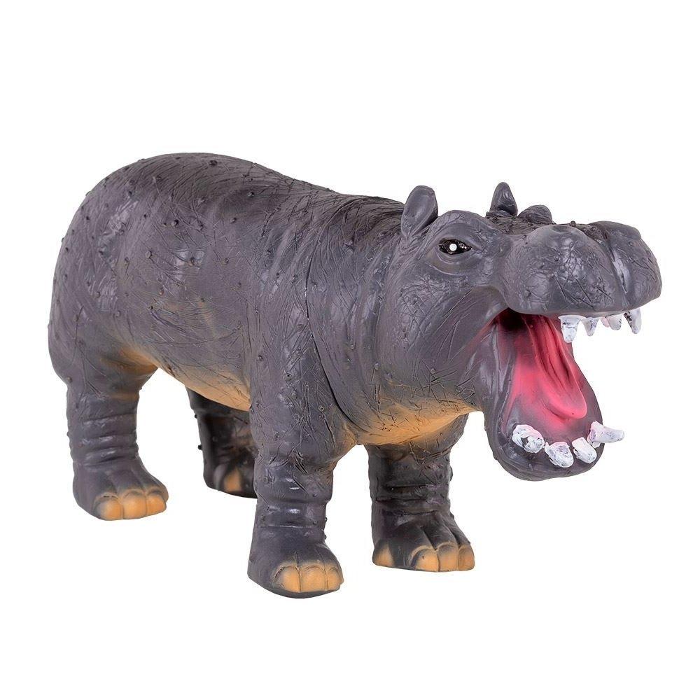 Boneco Hipopótamo de Vinil Animais Selvagens Db Play
