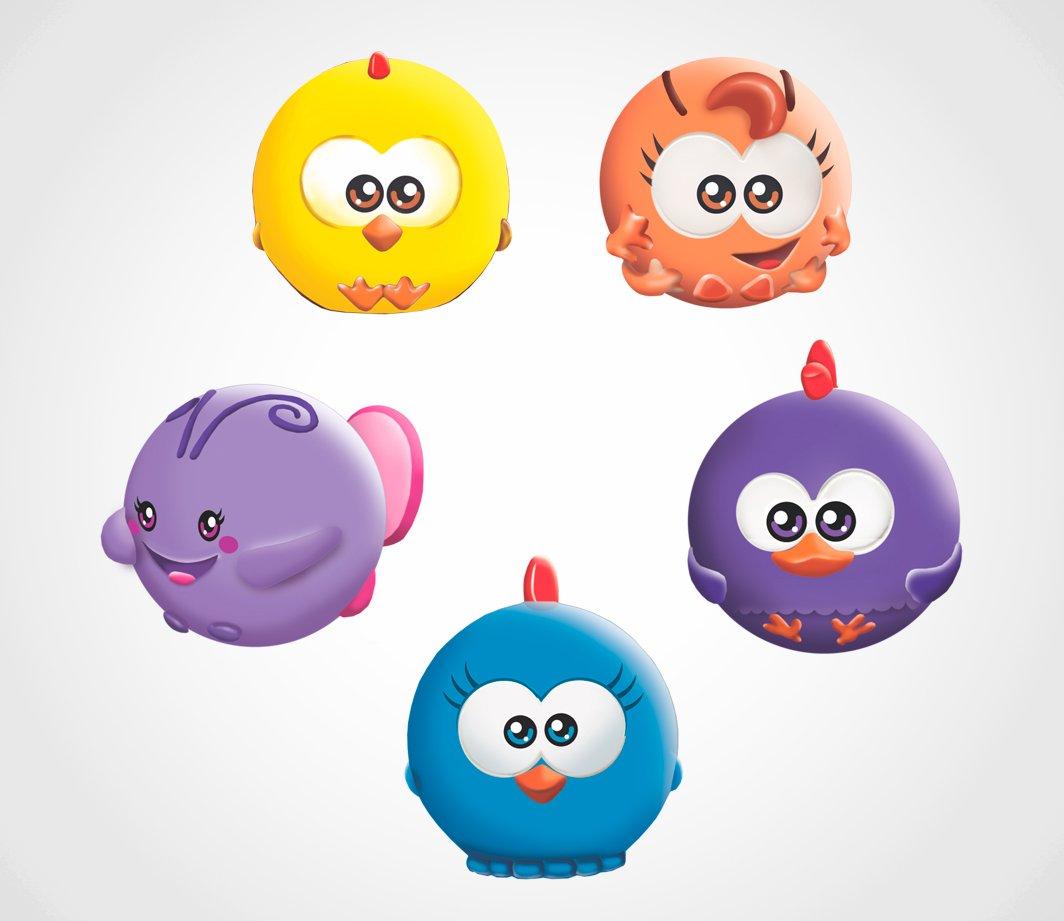 Brinquedo de Banho Bolinhas de Esguicho Galinha Pintadinha Mini Lider