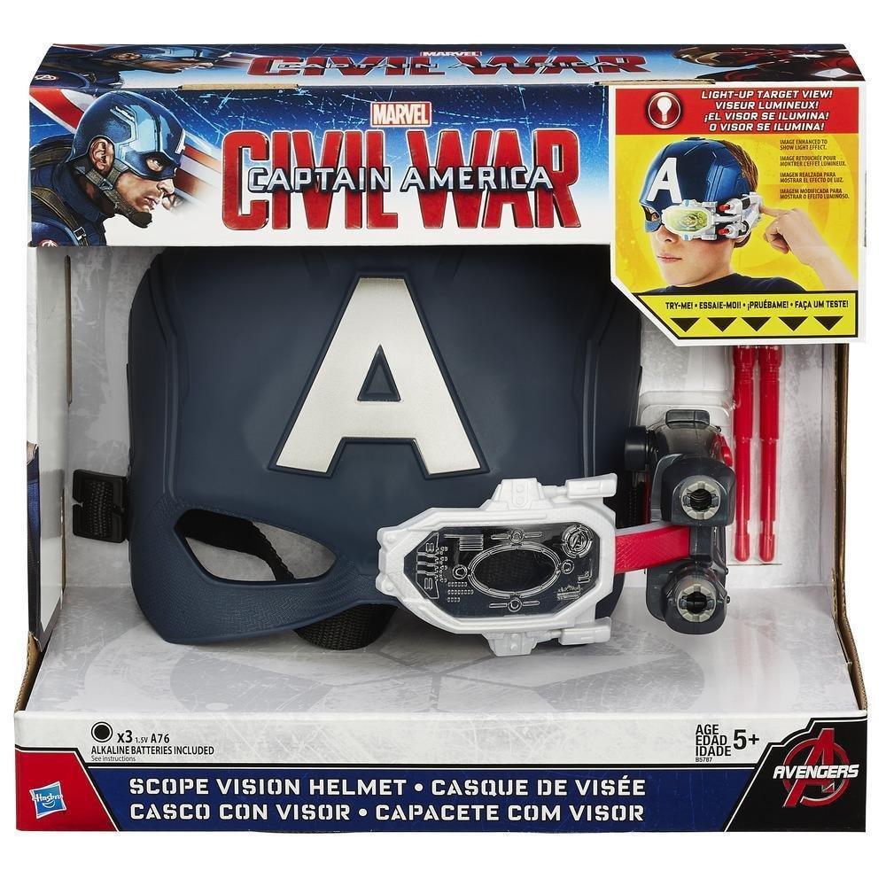 Máscara Eletrônica Capitão América Guerra Civil Hasbro
