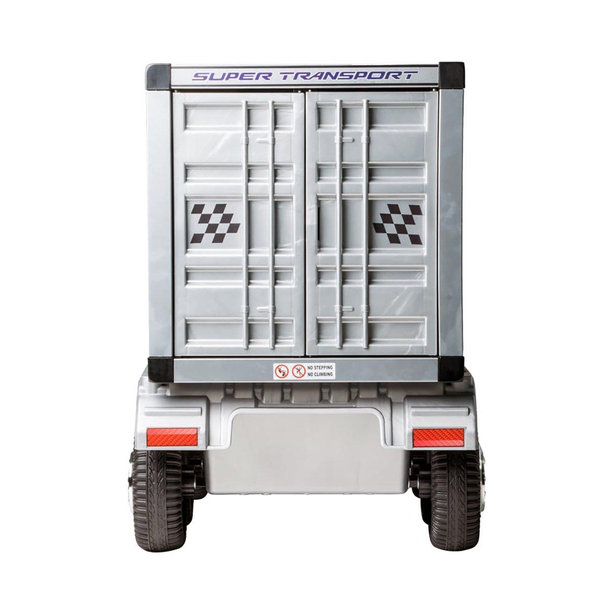 Caminhão Elétrico Infantil com Carreta (Baú) 12V Branco Bel