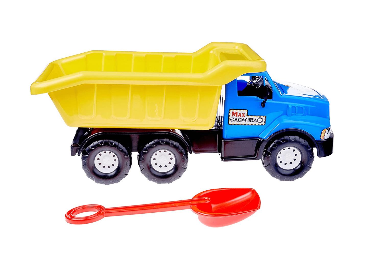 Caminhão Max Caçambão Colosso Azul Plastilindo