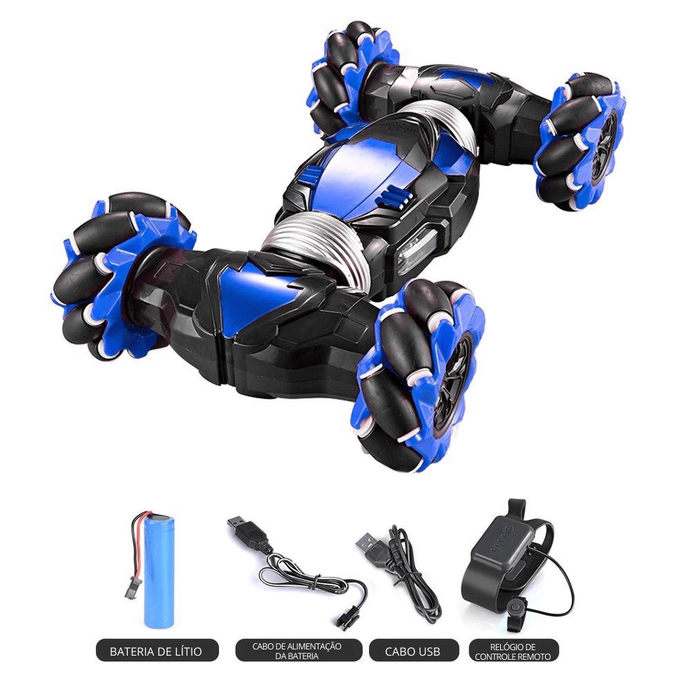 Carro de Controle Remoto Evolution com Controle por Gestos Azul Multikids