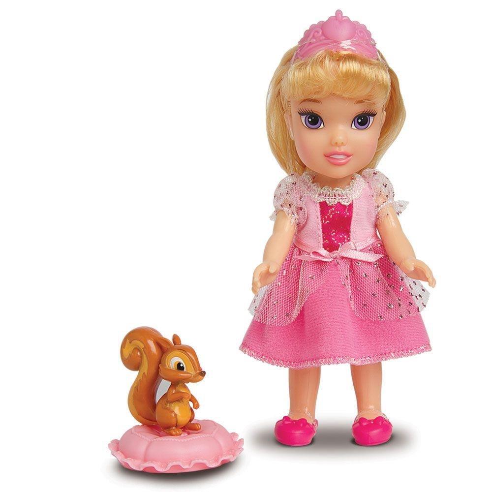 Boneca com Acessórios Disney Princesas Princesa Aurora e Pet Mimo
