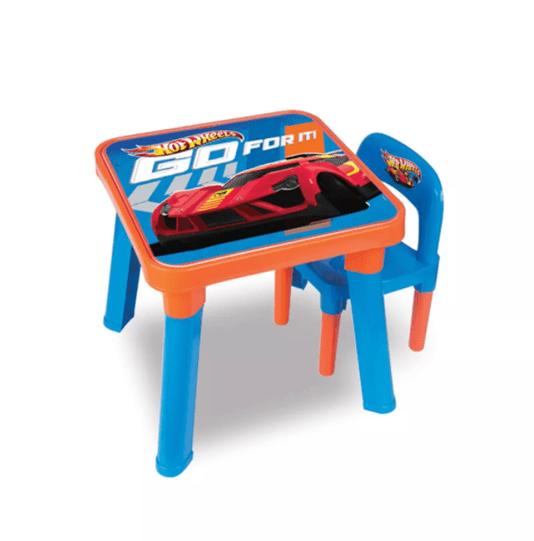 Mesinha e Cadeirinha Hot Wheels Barão Toys