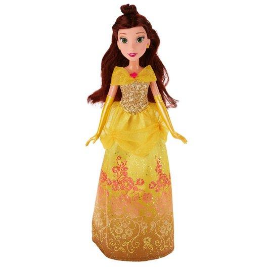 Boneca Princesas Disney Bela Vestido Brilhante Hasbro