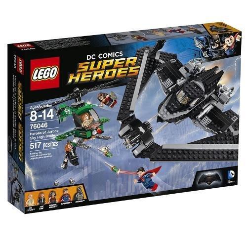 Super Heroes Heróis de Justiça Combate no Alto do Céu Lego