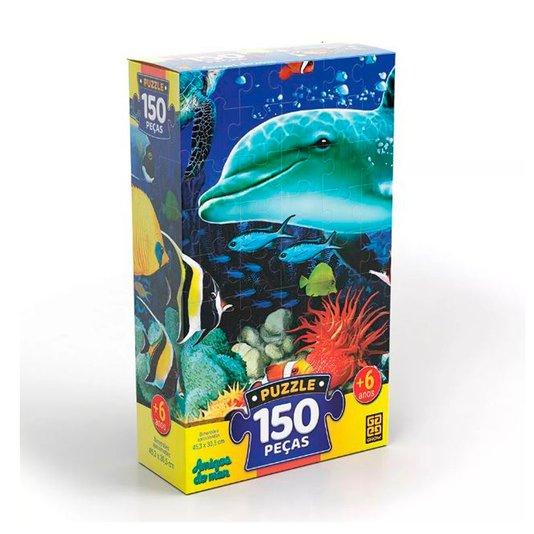 Quebra-Cabeça Amigos do Mar 150 Peças Grow