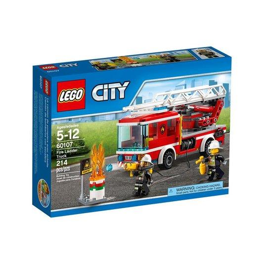 Caminhão De Combate Ao Fogo Com Escada Lego