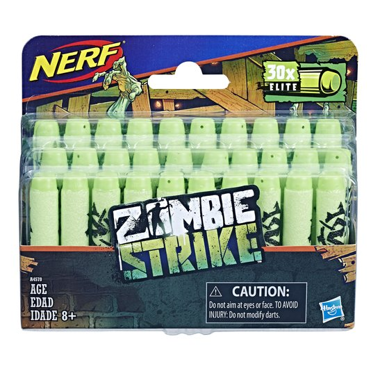 Refil Nerf Zombie Strike Com 30 Dardos Hasbro