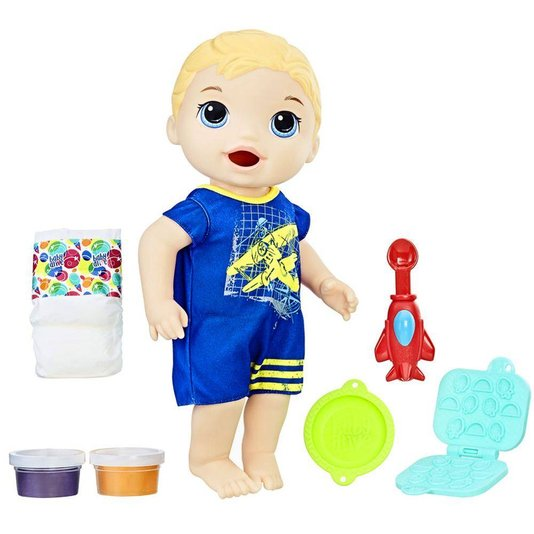 Boneco Baby Alive Meu Primeiro Filho Loiro Hasbro