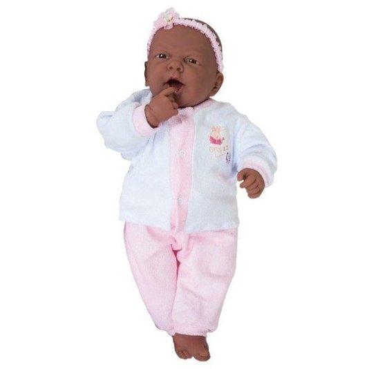 Boneca Niños Negra com Sons de Bebê Cotiplás