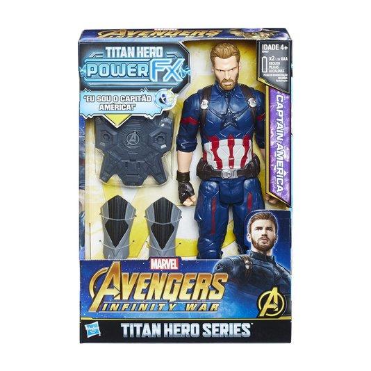 Boneco Avengers Power Pack Capitão América Guerra Infinita Hasbro
