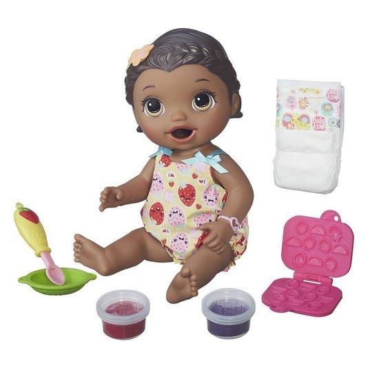 Boneca Baby Alive Lanchinho Divertido Negra Hasbro