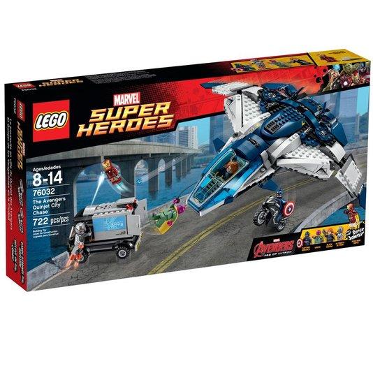 Super Heroes A Perseguição Dos Vingadores Na Cidade Com Quinjet Lego