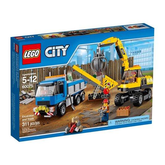 Demolition Escavadora e Caminhão Lego