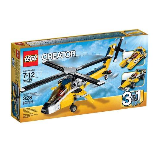 Veículos Amarelos de Competição Creator Lego