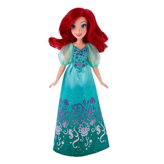 Boneca Princesas Disney Ariel Vestido Brilhante Hasbro
