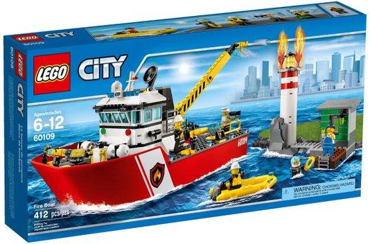 Barco de Combate ao Fogo Lego