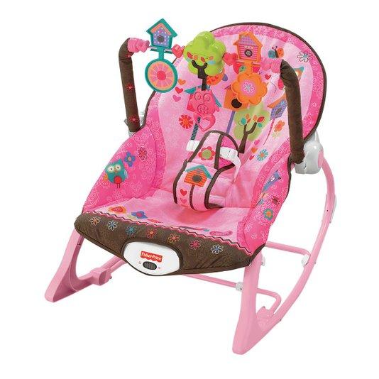 Cadeirinha de Descanso Infância Sonho Rosa Fisher-Price