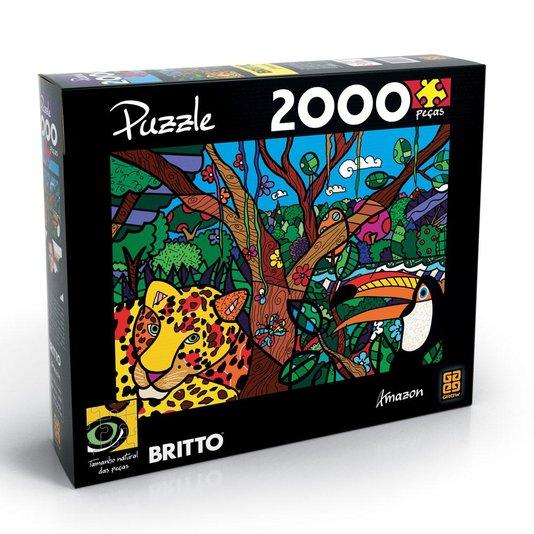 Quebra-Cabeça Romero Britto Amazon 2000 Peças Grow