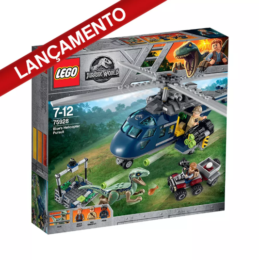 A Perseguição de Helicóptero de Blue Lego