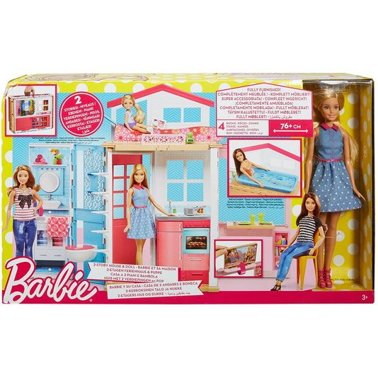 BB Real Barbie e Sua Casa Mattel