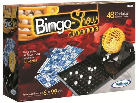 Bingo Show 48 Cartelas com Gaveta Xalingo