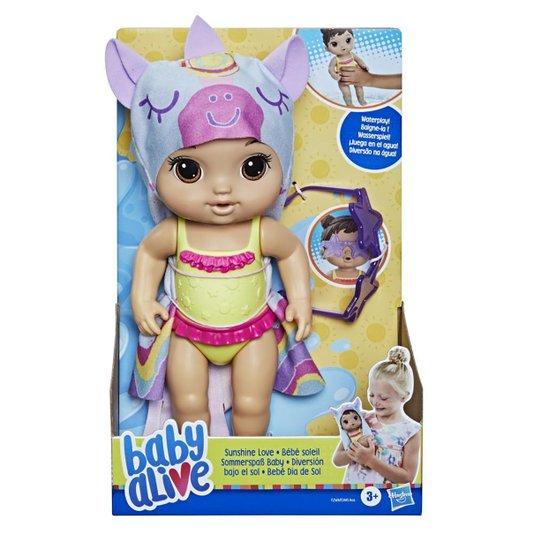 Boneca Baby Alive Bebê Dia de Sol Morena Hasbro