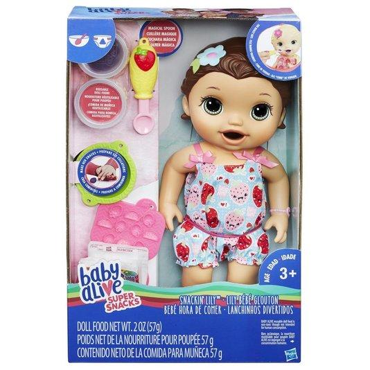 Boneca Baby Alive Lanchinho Morena Hasbro