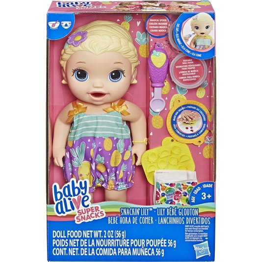 Boneca Baby Alive Lanchinhos Divertidos Loira Hasbro