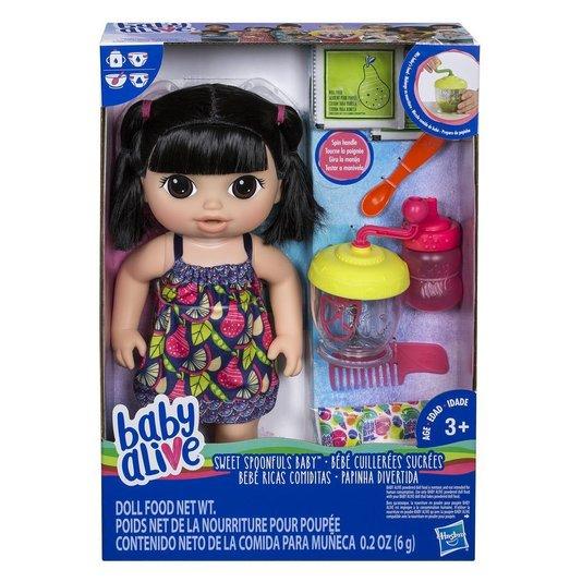 Boneca Baby Alive Papinha Divertida Asiática Hasbro