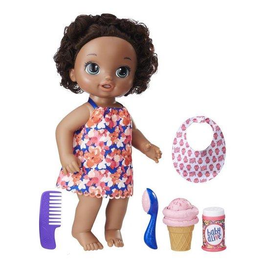 Boneca Baby Alive Sobremesa Mágica Negra Hasbro