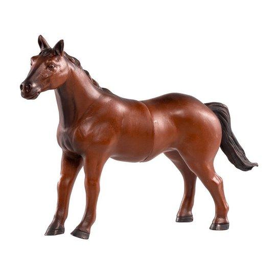 Boneco Cavalo de Vinil Marrom Animais da Fazenda Db Play