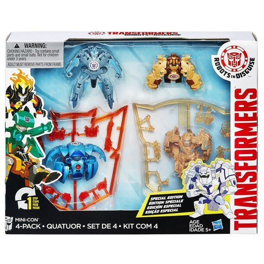 Bonecos Transformers Mini-Con com 4 Pack Hasbro