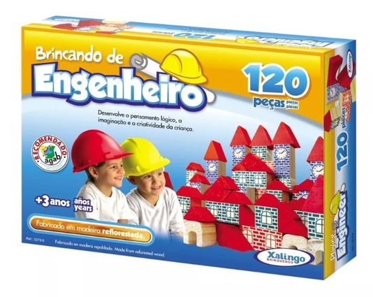 Brincando de Engenheiro 120 Peças Xalingo