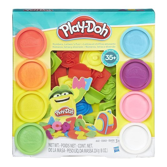 Conjunto Play-Doh Número Letras e Diversão Hasbro