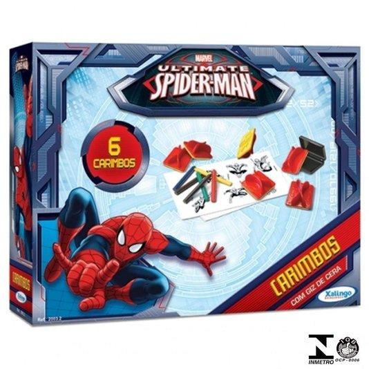 Conjunto de Carimbos Spider Man Ultimate Xalingo