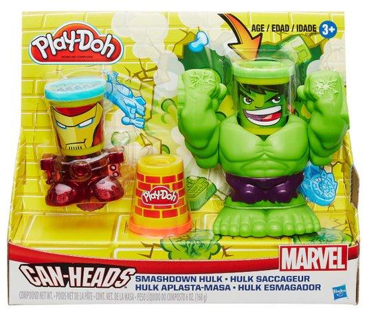 Conjunto Play-Doh Esmaga Hulk Marvel Hasbro