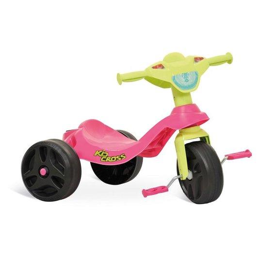 Triciclo Kid Cross Rosa Bandeirante