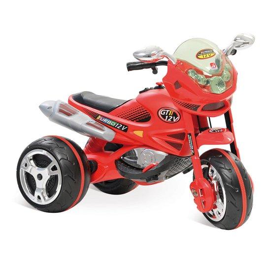 Moto Elétrica Super Moto Gt2 Turbo 12V Vermelha Bandeirante