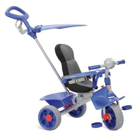 Triciclo Passeio Smart Comfort Azul Bandeirante
