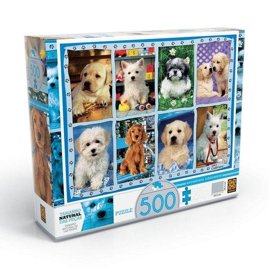 Quebra-Cabeça Adoráveis Cãezinhos 500 Peças Grow