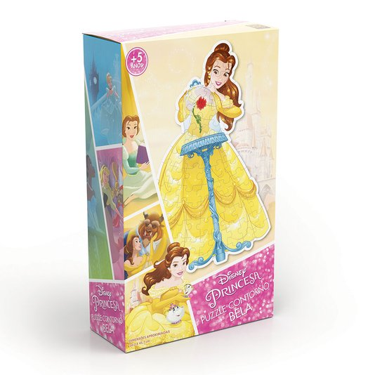 Quebra-Cabeça Contorno Bela Princesas Disney Grow